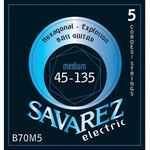 (682355) struny do gitary basowej hexagonal explosion 5-str. medium-light marki Savarez