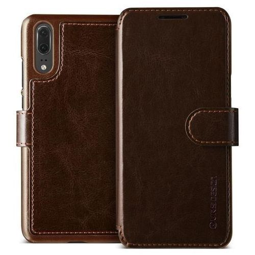 Etui VRS Design Layered Dandy Huawei P20 Brown, kolor brązowy