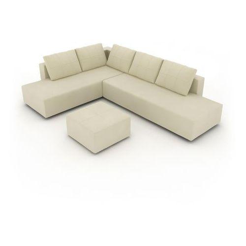 Kare Design Narożnik Gemini Tkanina Biały - 78021 - oferta [e5dbd749f3cfa24c]