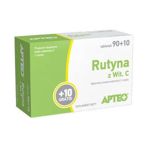 Tabletki RUTYNA Z WITAMINĄ C Apteo x 100 tabletek