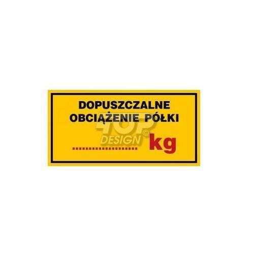 Top design Dopuszczalne obciążenie półki 250 kg