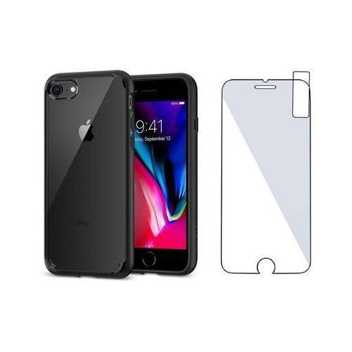 Zestaw   Spigen SGP Ultra Hybrid 2 Black   Obudowa + Szkło ochronne Perfect Glass dla modelu Apple iPhone 7 / 8