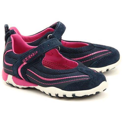 GEOX Junior Freccia - Granatowe Canvasowe Baleriny Dziecięce - J52C0B 01122 C4268 od MIVO Shoes Shop On-line