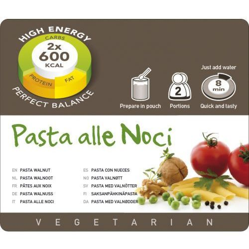 Adventure Food Pasta alle Noci Żywność kempingowa podwójna porcja Posiłki wegetariańskie