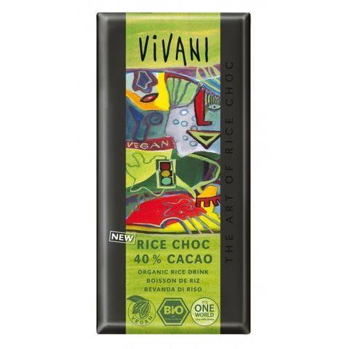 Vivani Czekolada vegan (na napoju ryżowym) 40% kakao bio 100 g - (4044889002577)