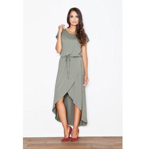 Sukienka M394 Oliwka XL (5901299582138)