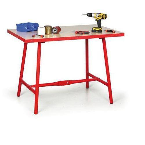 Składany stół warsztatowy, 1205 x 705 x 845 mm marki B2b partner