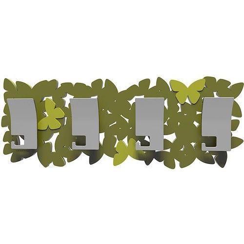 Wieszak ścienny butterflies oliwkowo-zielony (50-13-3-54) marki Calleadesign