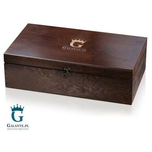 Skrzynka drewniana kuferek lakierowany wąski marki Galante