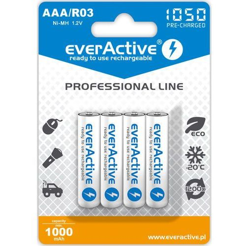 "Everactive 4x r03/aaa ni-mh 1000 mah ready to use ""professional line"""