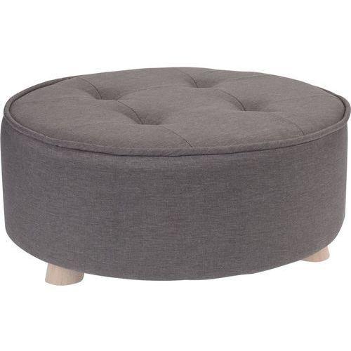 Home styling collection Pufa bawełniana, siedzisko, podnóżek, ciemnoszary - 52 x 22 cm