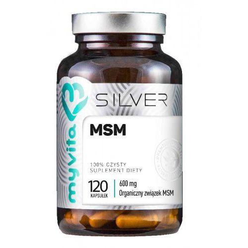 Myvita Msm organiczny związek siarki 600mg 120 kapsułek - silver (5903021590343)