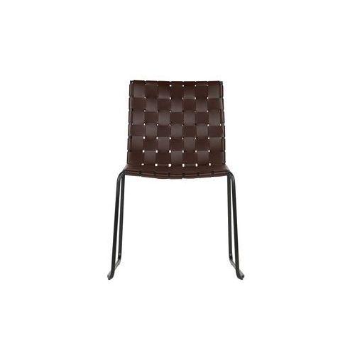 krzesło icon skórzane, ciemny brąz 800726-db marki Be pure