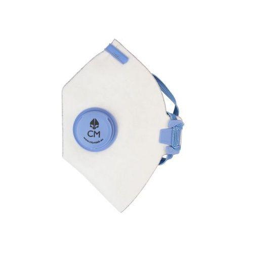 Maska antysmogowa biało-niebieska z węglem aktywnym marki Citymask