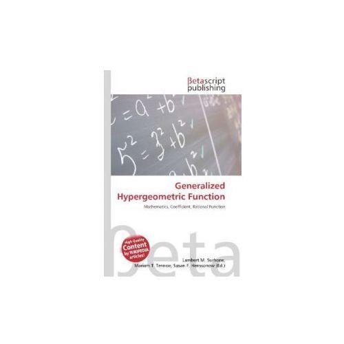 Generalized Hypergeometric Function (9786131337291)