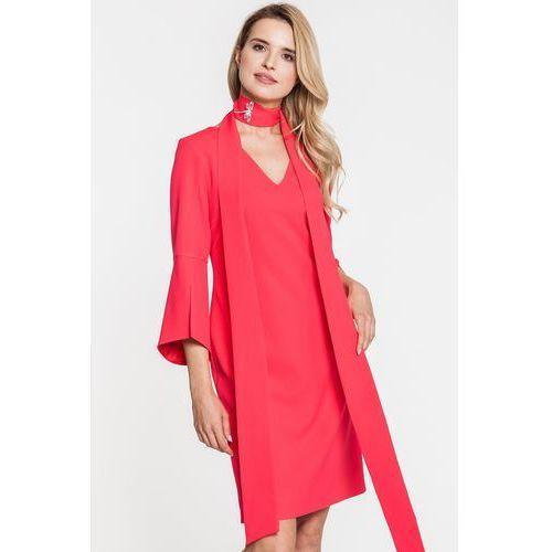 a604631bdd Czerwona sukienka z kimonowymi rękawami - GaPa Fashion