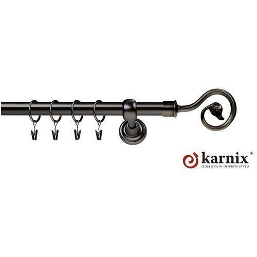 Karnisz metalowy rzymski pojedynczy 19mm spiralka antracyt od producenta Karnix