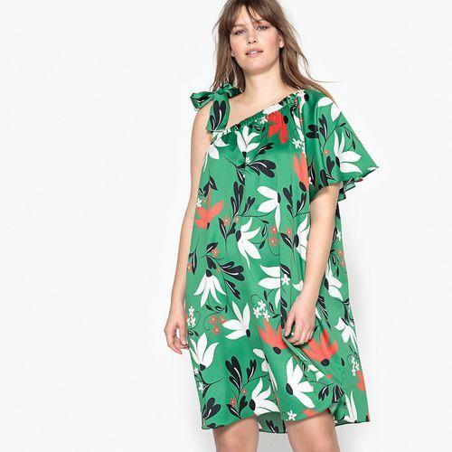 Kwiecista sukienka bez rękawów, długa i rozkloszowana marki Castaluna