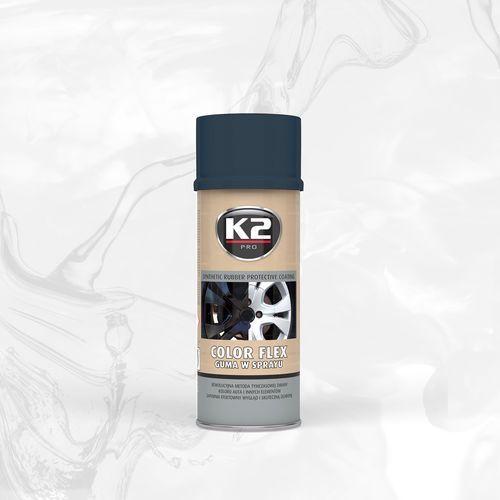 K2 Color flex guma w sprayu - carbon syntetyczna powłoka gumowa w sprayu