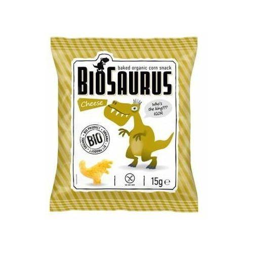 Cibi Chrupki kukurydziane o smaku serowym bezgl. bio 15 g biosaurus - (8588000526833)