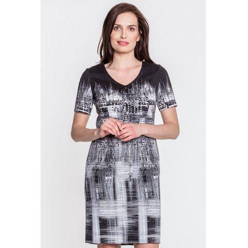 Sukienka z abstrakcyjnym nadrukiem - Potis & Verso, 1 rozmiar