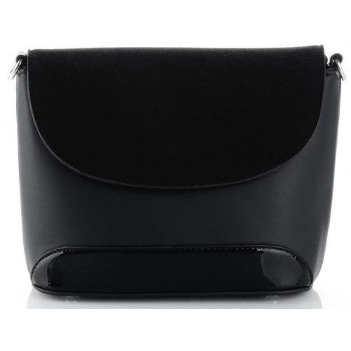 42f7b1db0cd3d eleganckie torebki damskie listonoszki wykonane z zamszu naturalnego i skóry  eko czarna (kolory) marki Silvia rosa 99