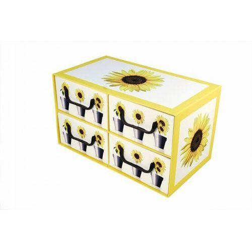 Pudełko kartonowe 4 szuflady poziome DONICZKI-SŁONECZNIK