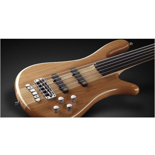 Rockbass streamer nt i 5-str. natural transparent high polish, fretless gitara basowa