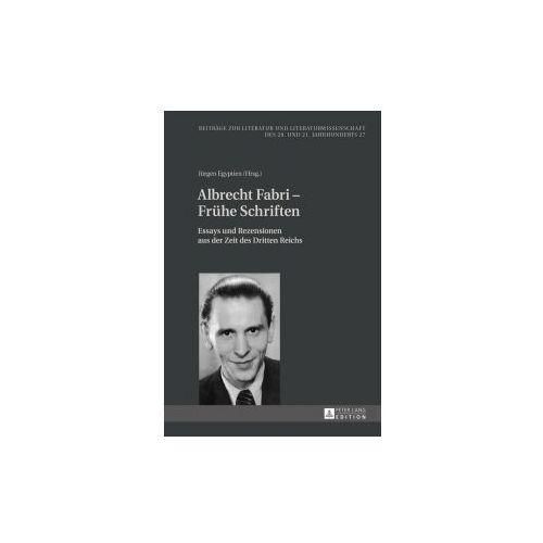 Albrecht Fabri - Frühe Schriften (9783631670798)