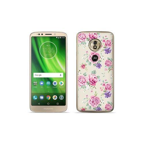 etuo Fantastic Case - Motorola Moto G6 Play - etui na telefon Fantastic Case - pastelowe różyczki, kolor różowy