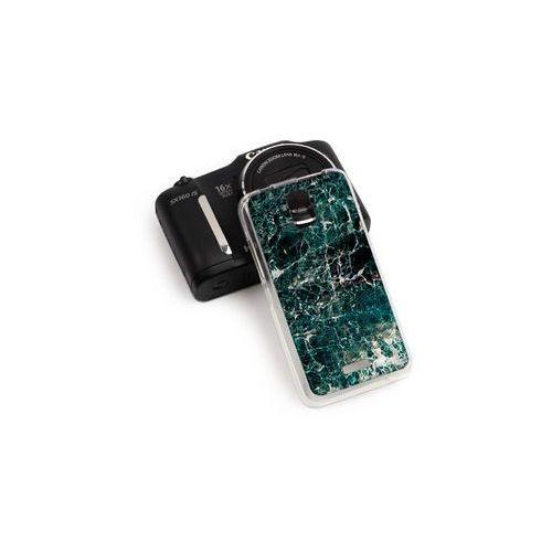 Huawei Y3 - etui na telefon Fantastic Case - zielony marmur, kolor zielony