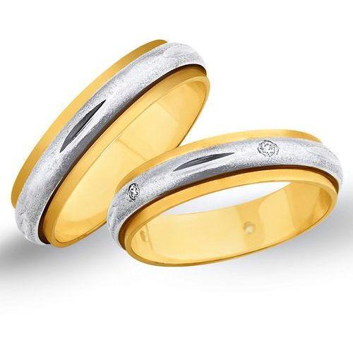 Świat złota Obrączki ślubne z żółtego i białego złota 5mm - o2k/081