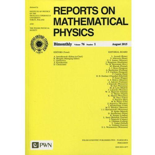 Reports on Mathematical Physics 76 2015 kraj - Wydawnictwo Naukowe PWN (9770034487382)