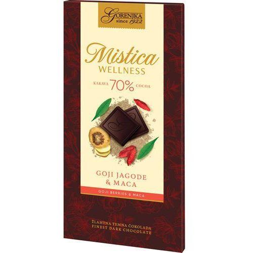 MISTICA WELLNESS czekolada gorzka 70% s jagodami goji i macą