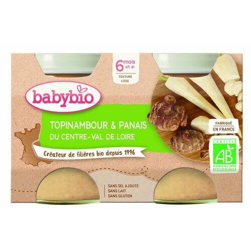 Przecier z topinamburu i pasternaku od 6 miesiąca bezglutenowe bio 2x130 g marki Babybio