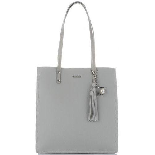 0ccdbaa934a58 David jones Firmowe torebki damskie w rozmiarze xl z trzema komorami  klasyczny shopper wykonany z wysokiej jakości skóry ekologicznej szara  (kolory) 125,00 ...