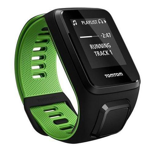 runner 3 cardio - zegarek sportowy z gps, czujnikiem tętna i pamięcią 3gb (czarny/zielony) marki Tomtom