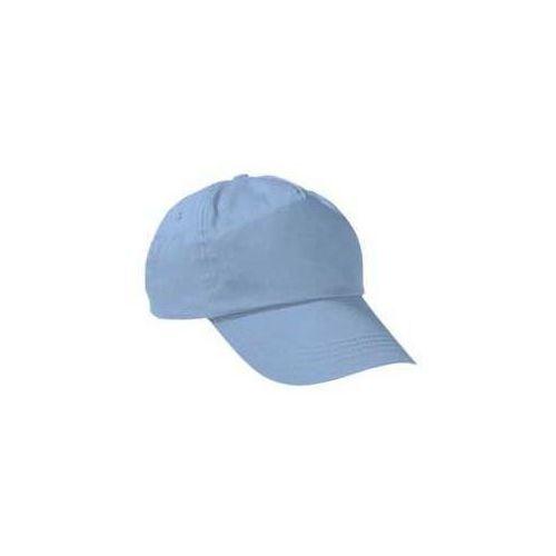 Czapka z daszkiem bawełniana bawełna bejsbolówka dziecięca młodziewa dorosła dzieciece blekitny, kolor niebieski