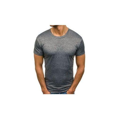 T-shirt męski bez nadruku antracytowy denley 2011t, J.style