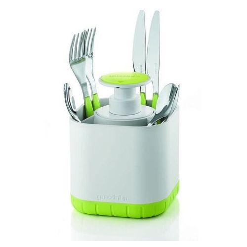 - tidy & clean - ociekacz na sztućce z dozownikiem, zielony marki Guzzini