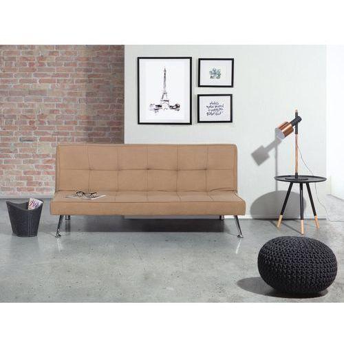 Sofa z funkcją spania beżowa - kanapa rozkładana - wersalka - HASLE