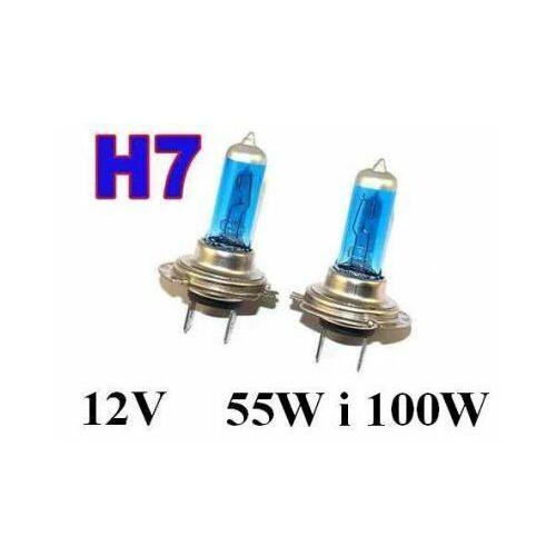 Żarówki (2szt.) samochodowe h7 (12v) xenon h.i.d. blue vision (moc 55w lub 100w) - homologowane. marki Lumiko usa/jk