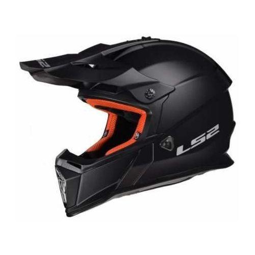 Kask mx437 fast solid matt black marki Ls2