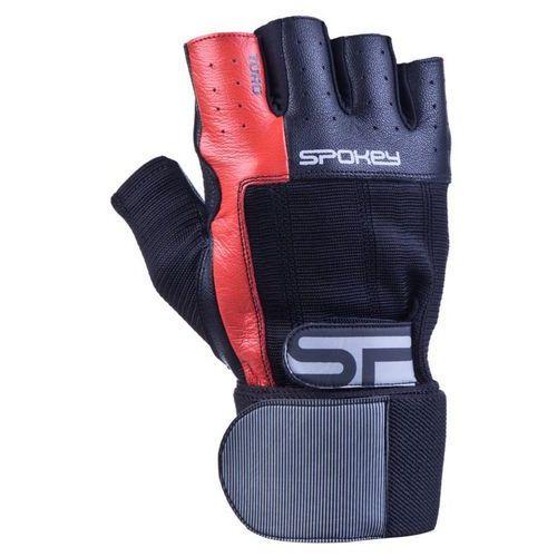 Rękawice fitness SPOKEY Toro II Czarno-czerwony (rozmiar L), kolor czerwony