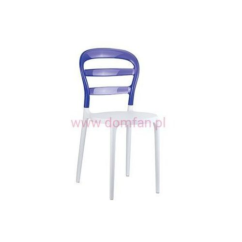 Krzesło Miss Bibi - biały   fioletowy, kolor biały