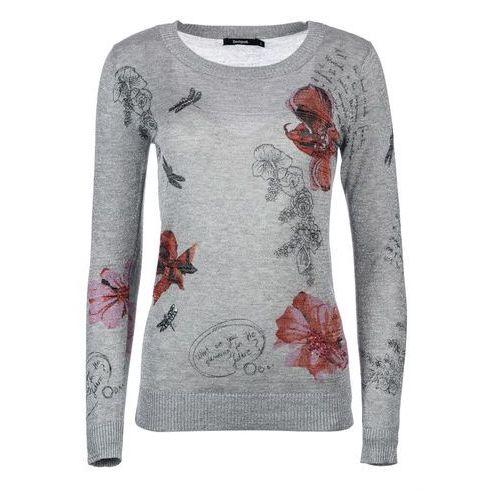 Desigual sweter damski L szary, wiskoza