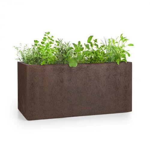 Blumfeldt Solid Grow Rust, pojemnik na rośliny, 80 x 38 x 38 cm, Fibreclay, kolor rdzawy (4060656225864)