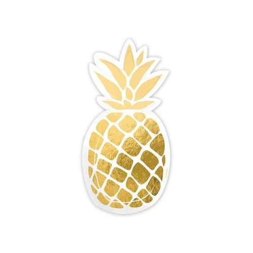 Talerzyki papierowe ananas - 18 cm - 6 szt. marki Amscan