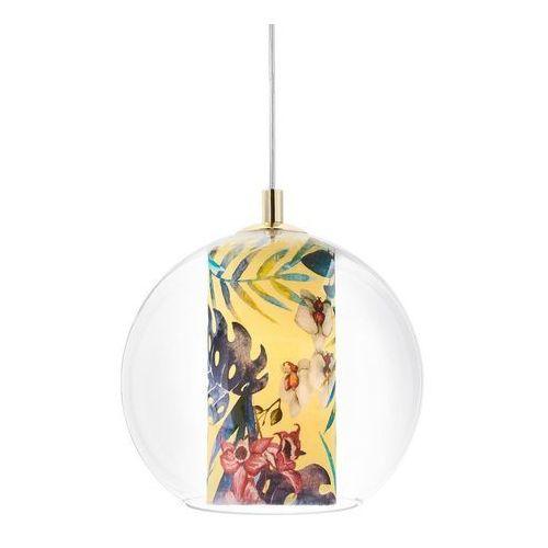 Kaspa - Lampa wisząca Feria S, żółta - żółty ||złoty, kolor żółty