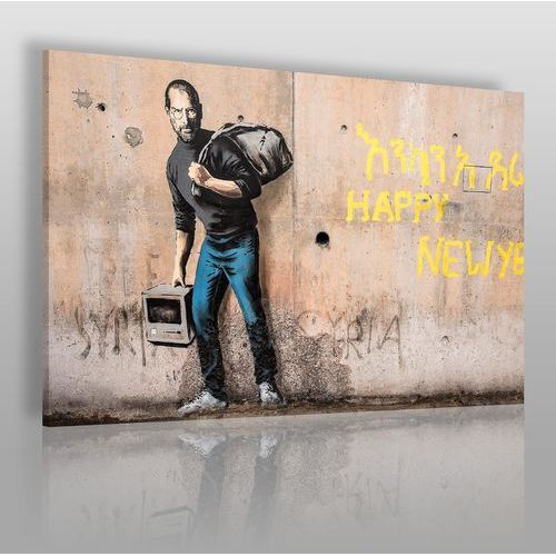 Banksy - Steve Jobs - nowoczesny obraz na płótnie